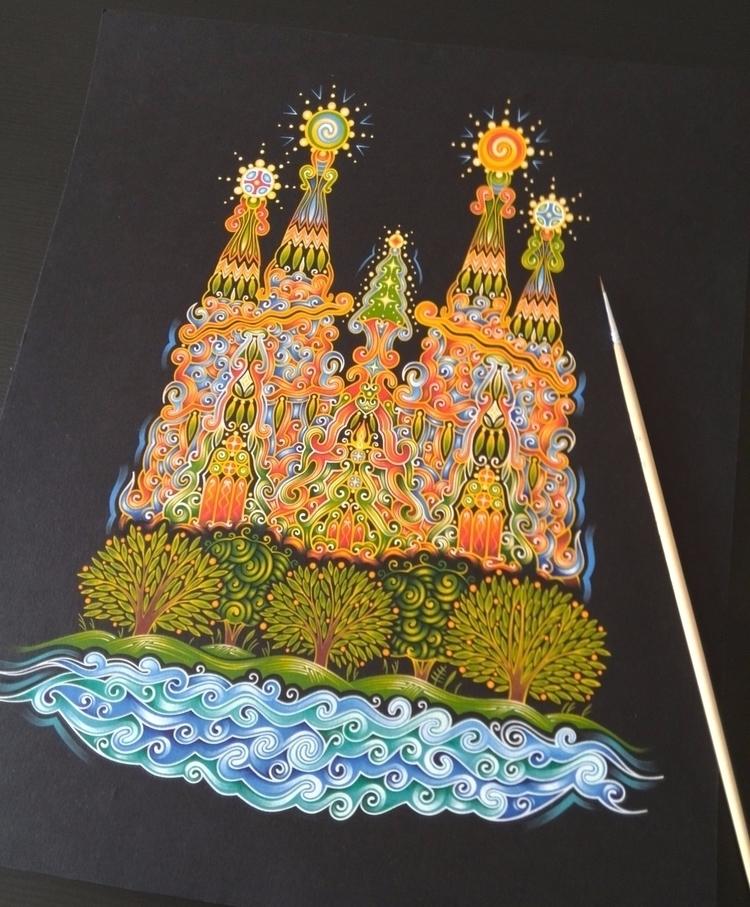 Sagrada Familia. Painting, temp - natasha_sedyakina | ello