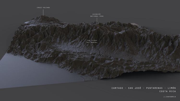 Centralamerica 3D code, Process - jchava | ello