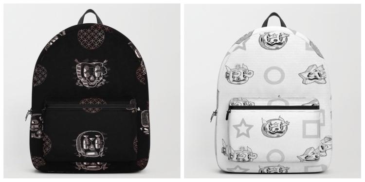 Black white - backpack, backpacker - trinkl | ello