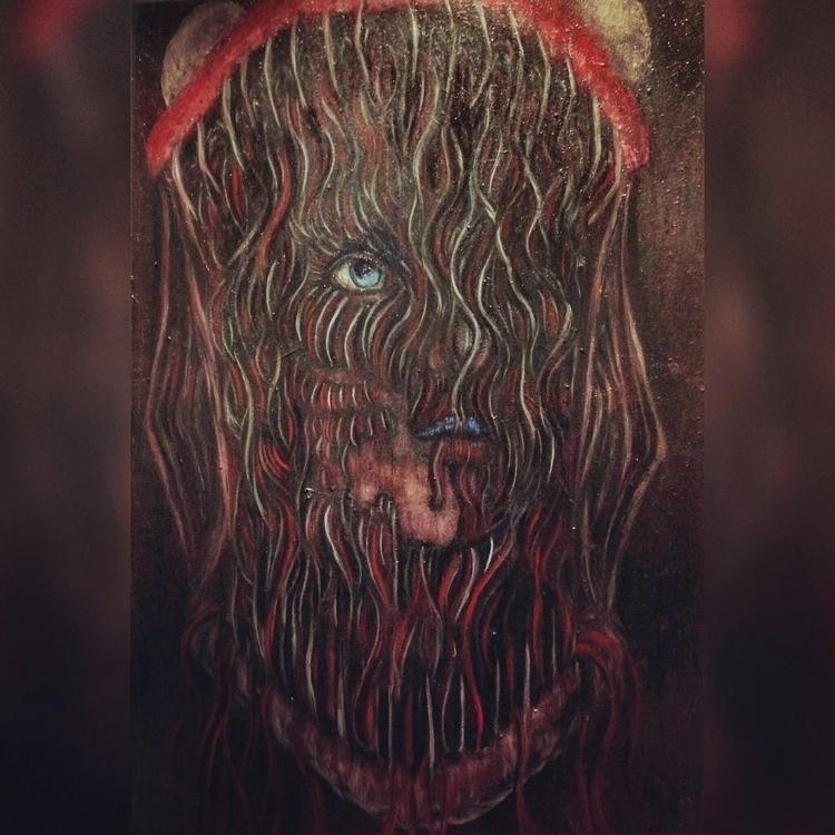 Oil painting Snake Bite Jessica - jessica_f_holt   ello