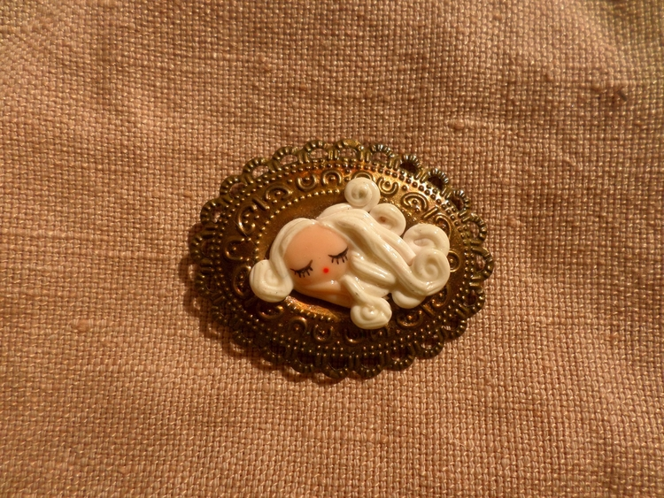 Sleeping Fairy brooch - cute, kawaii - thefluffandpurr | ello