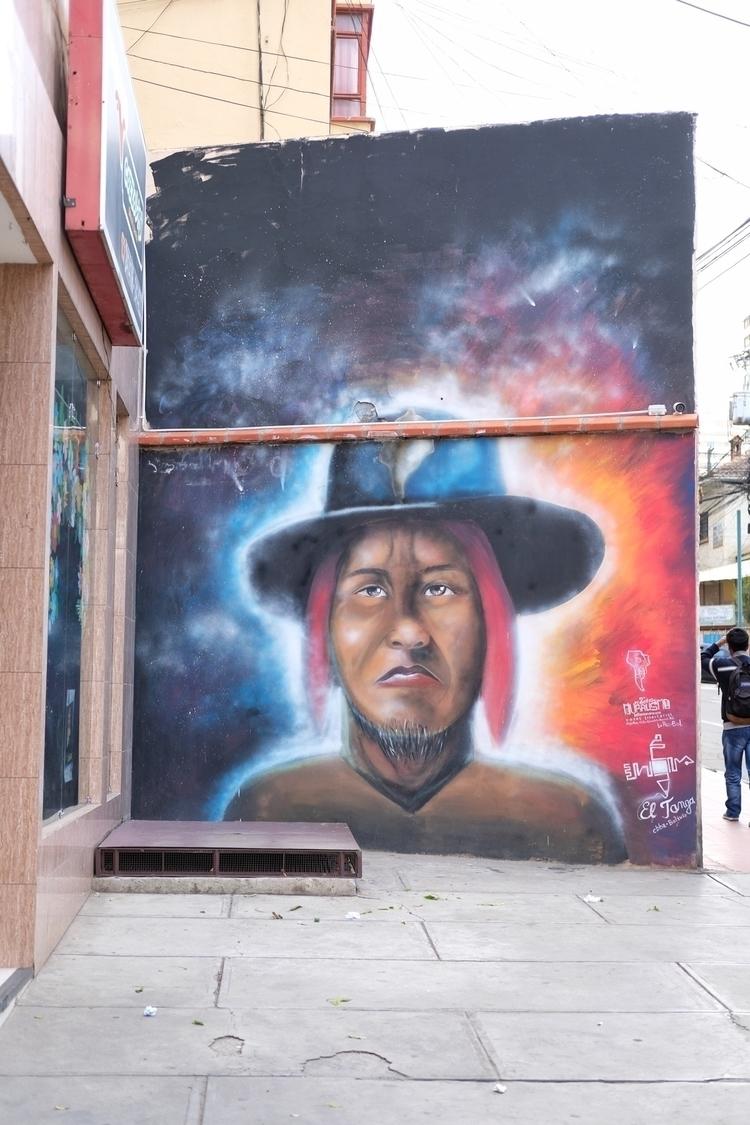 Es gibt viel Streetart La Paz - weltfarben | ello