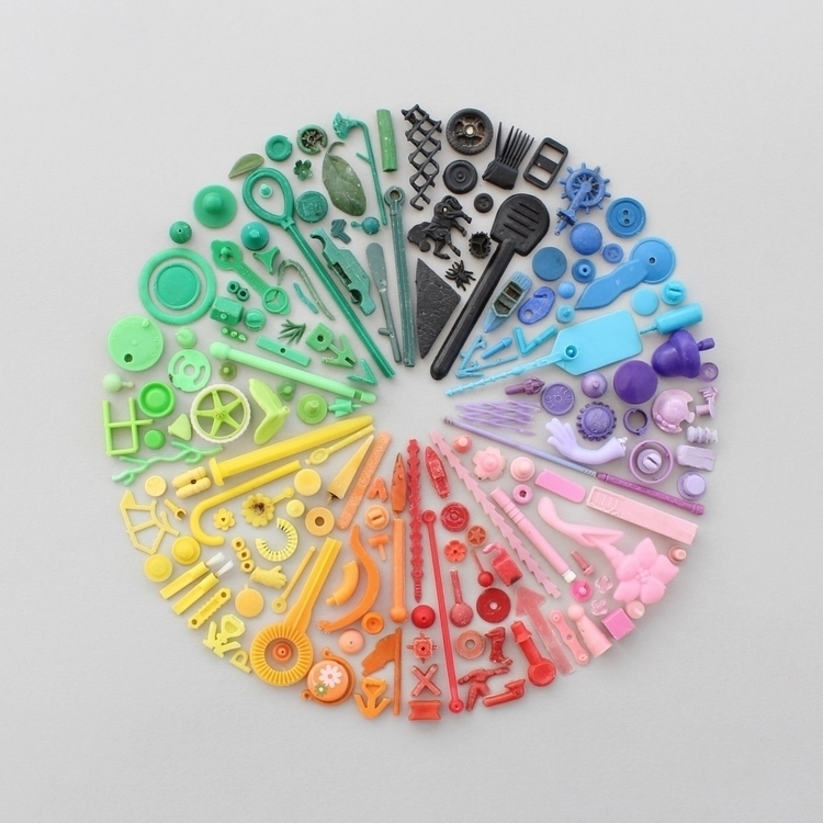 Colour wheel beach finds - caroline_south | ello
