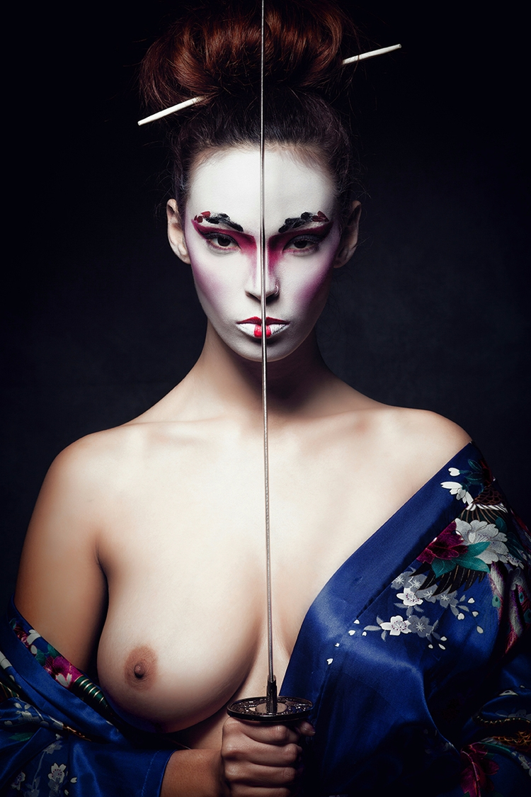 """GEISHA"" — Photography Makeup:  - darkbeautymag 