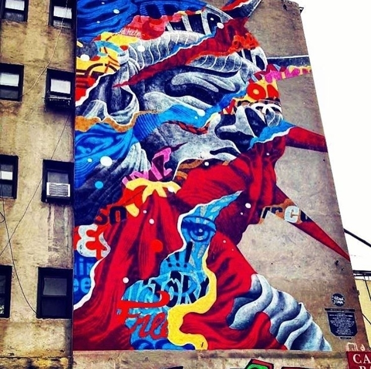Repost - streetart, graffiti, newyork - bitfactory | ello