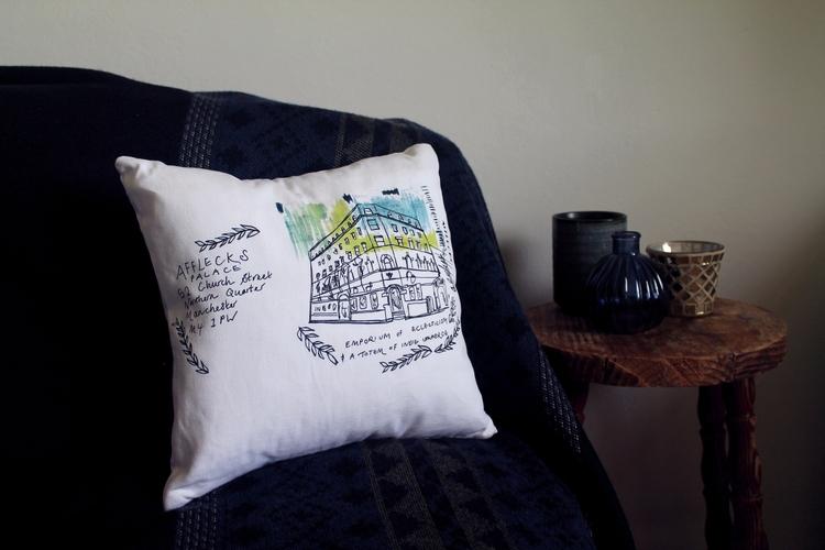 Afflecks Palace Cushion - cogginsketchbook | ello