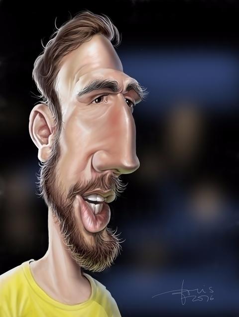 Jan Oblak, goalkeeper - caricature - karikatureboris | ello