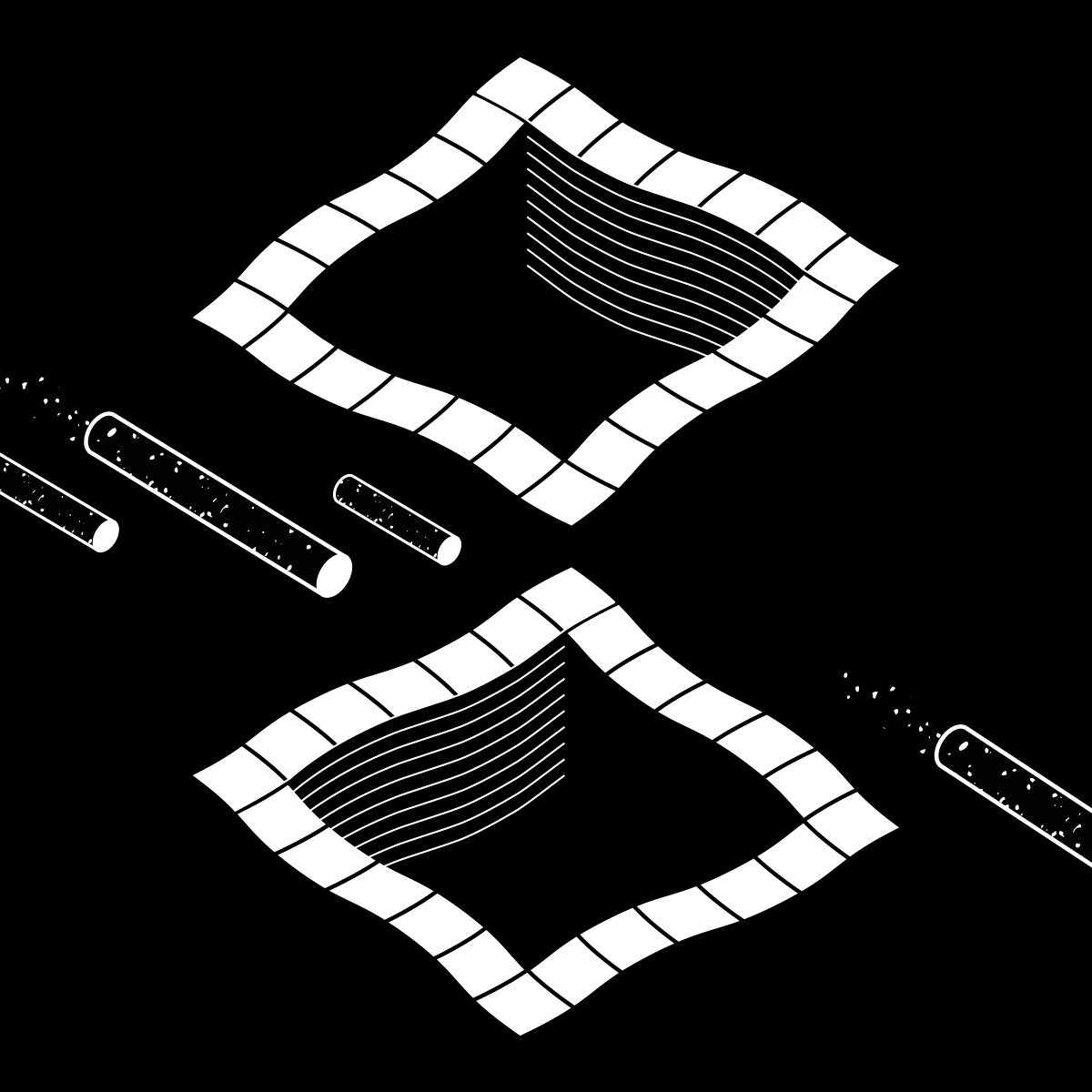 illustration, bw, geometry, space - davidbenmussa | ello