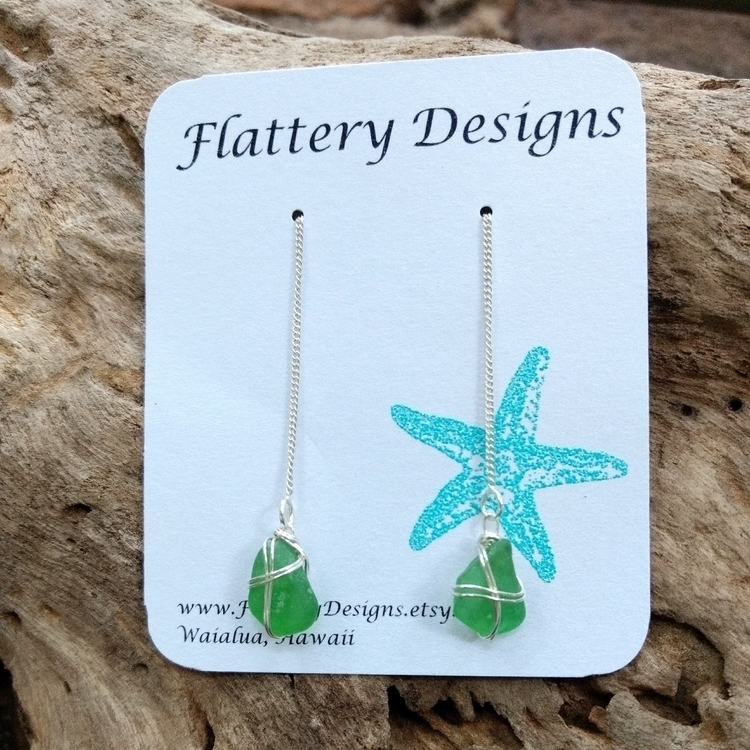Hawaiian Sea Glass Threader Ear - flatterydesigns | ello