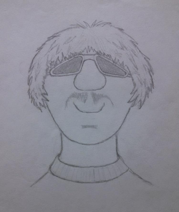 Mellow Man - drawing, sketch, pencil - kut-n-paste | ello