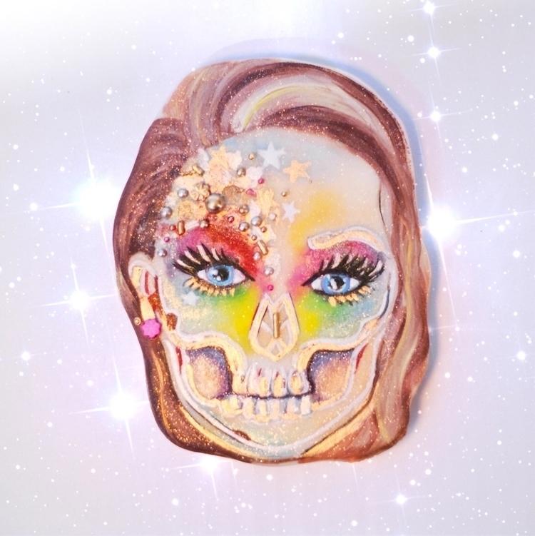 Holographic skull inspired cook - shelbyelizabethcakes | ello