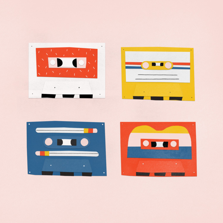 cassettes colorful - zackrosebrugh | ello