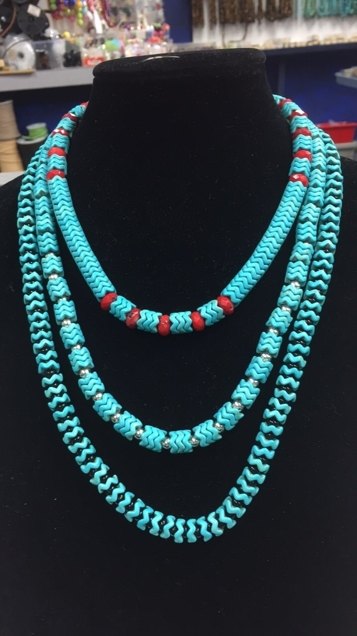 Turquoise, sterling, coral day - wccbeadingco | ello