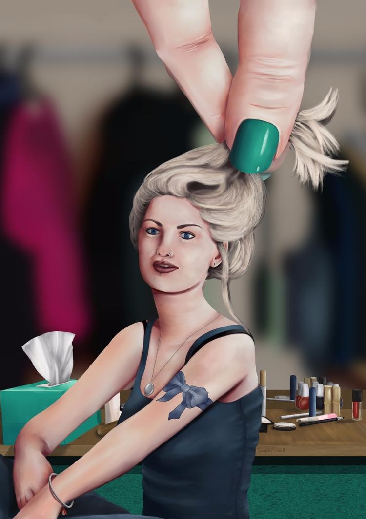 'Sara Hand'. Digital painting c - brinjenrussell | ello