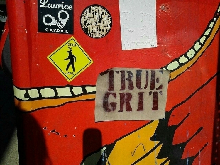 True Grit - streetart, sticker - anthonycandkarenm | ello