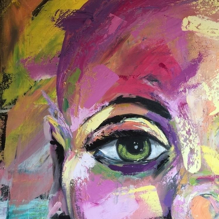 Painting detail, work progress - cherfru | ello