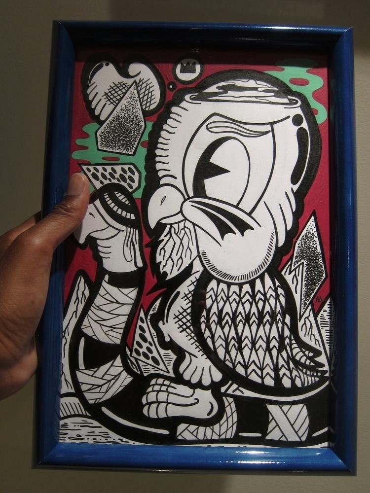 Strange Birdz 8 12' acrylic ink - andydass | ello