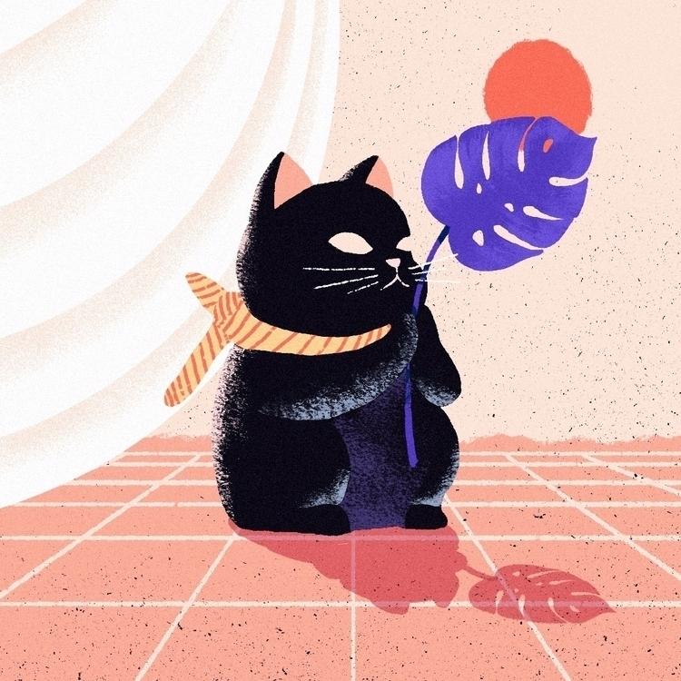 cat statue - mikyunglee | ello