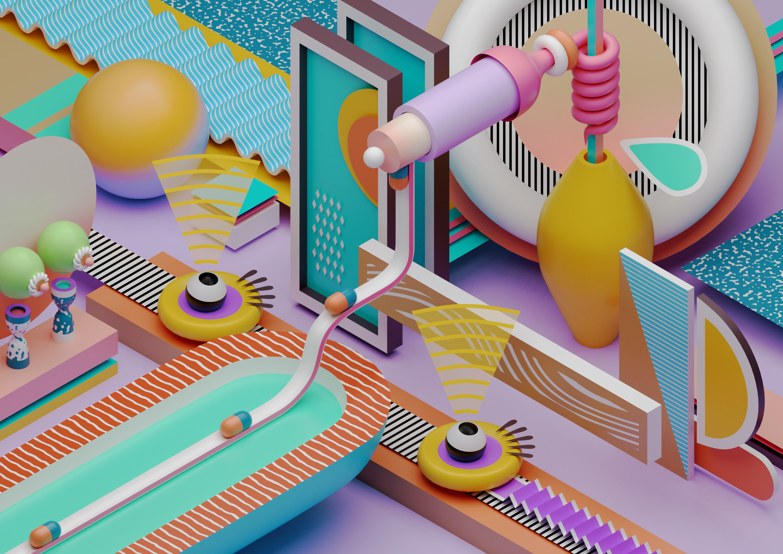 3D, art, abstract, design, illustration - ikyste   ello