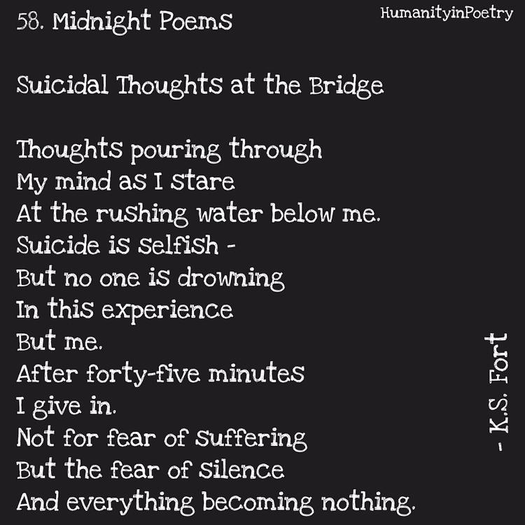 "Link Poem, "" Suicidal Thoughts  - humanityinpoetry | ello"