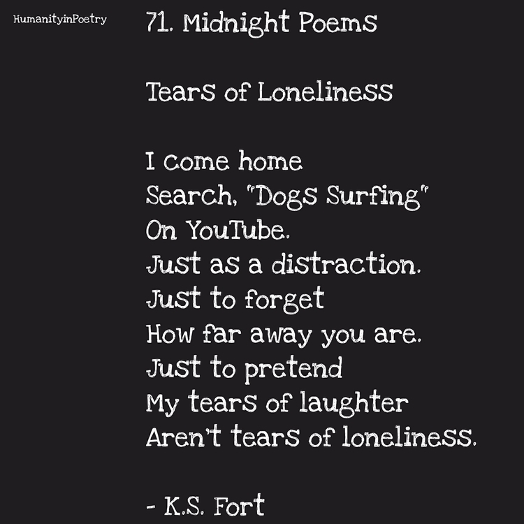 "Link Poem, "" Tears Loneliness  - humanityinpoetry | ello"
