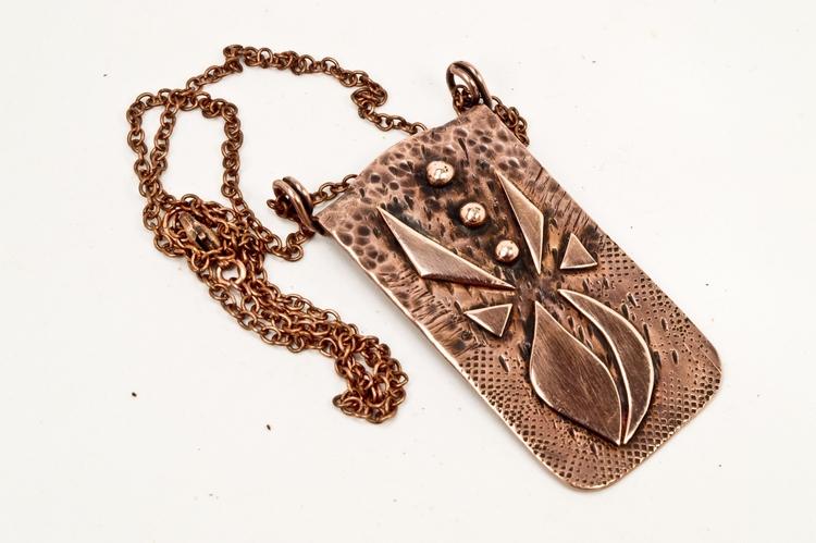 metal art copper necklace title - annadabrowska | ello