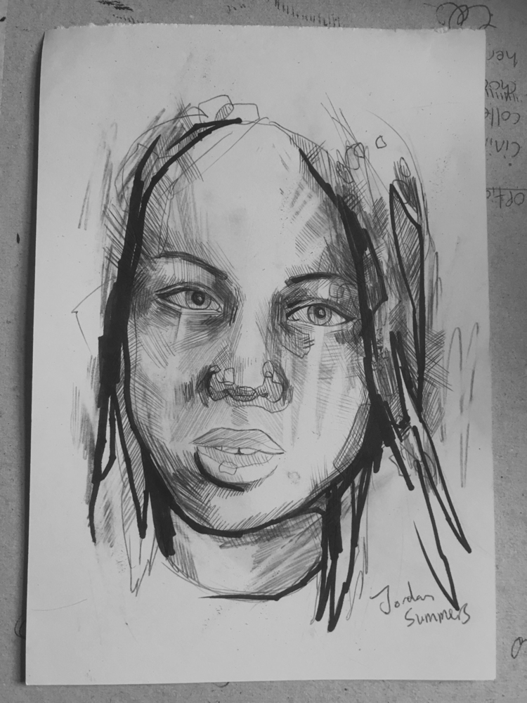Quick sketch - art, artwork, portraitdrawing - jordansummers | ello