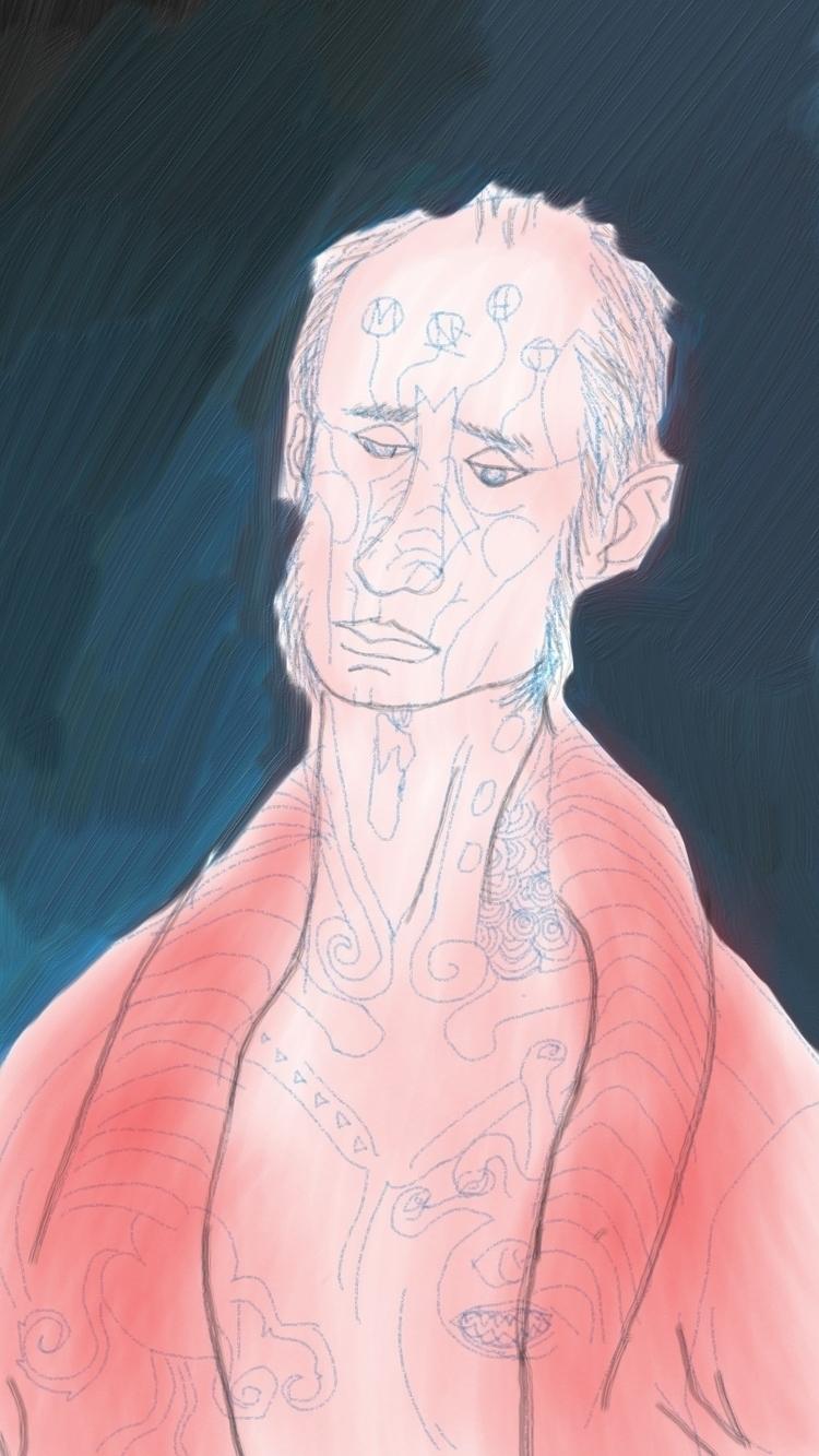 digital portrait, artistic libe - thegreymonk | ello
