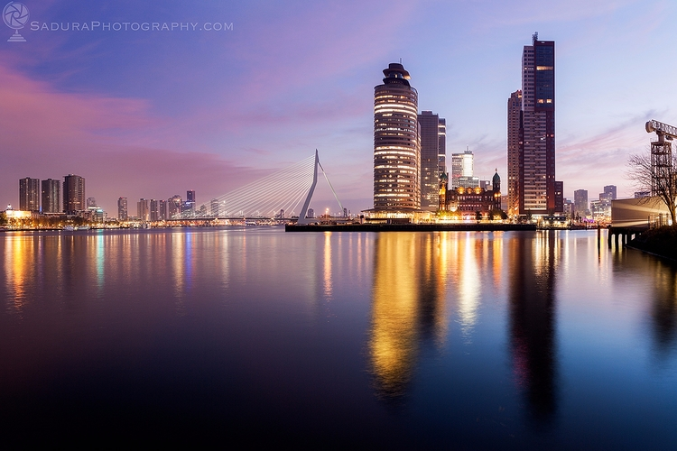 Rotterdam skyline sunrise Rotte - hsphotos | ello