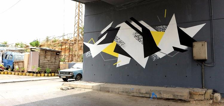 Mural - Beirut, Lebanon. Collab - markmcclurestudio | ello