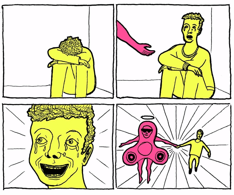 fidgetspinner, illustration - kredenswproszku | ello