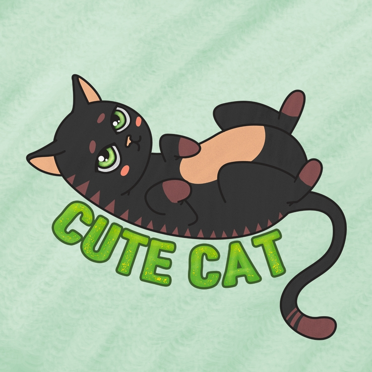 cute black cat, S2 - c23arts | ello
