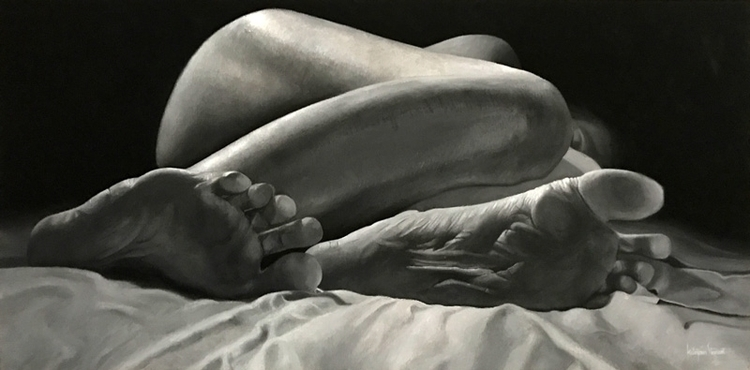Asleep 20x40 Oil Linen - katayounstewart | ello