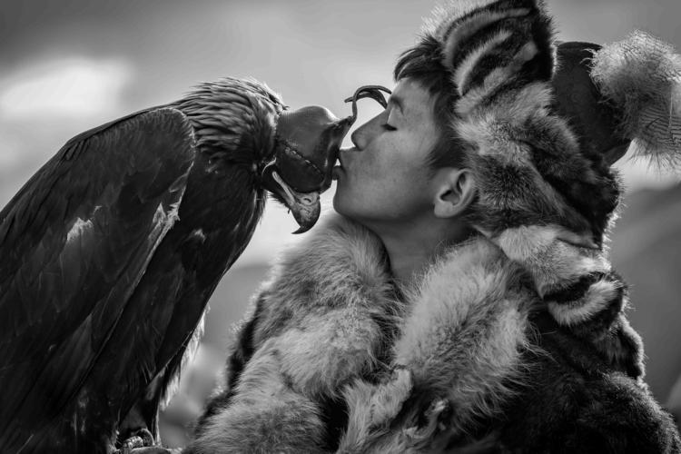 young eagle Mongolian boy parti - anovotn | ello