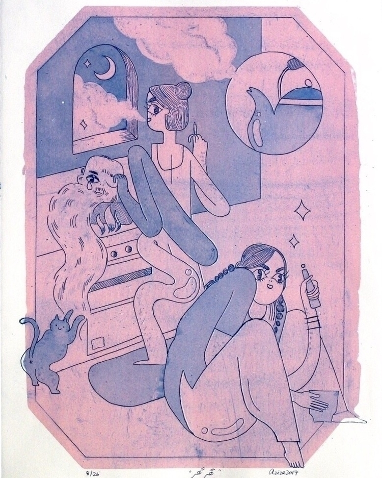 Ghar (Playing Home), etching aq - azizazazaza   ello