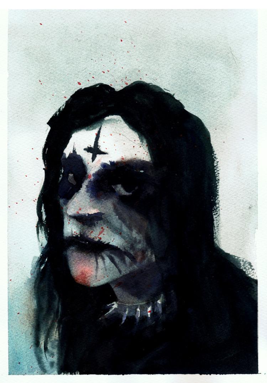blackmetal, watercolor, painting - pretopasin | ello