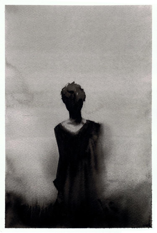 ghosts, watercolor, painting - pretopasin | ello