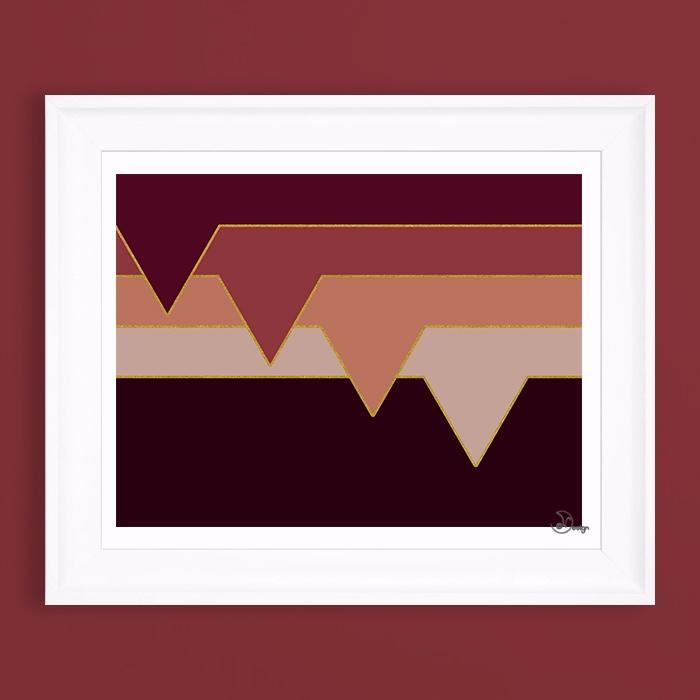 Wine Clouds Minimal, geometric  - designdn | ello