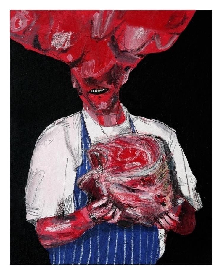 Meat 2. 25x20cm, 2015 - art, painting - carpmatthew | ello
