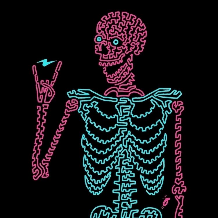 Electrifying. Squiggle Furmie - skeleton - furmie | ello
