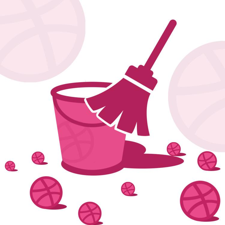 Dribbble ball cleaner Logo, App - john1cse | ello