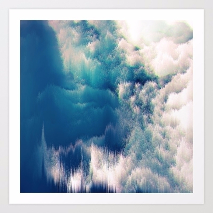 Soft water - abstract, clouds, ocean - printapix | ello