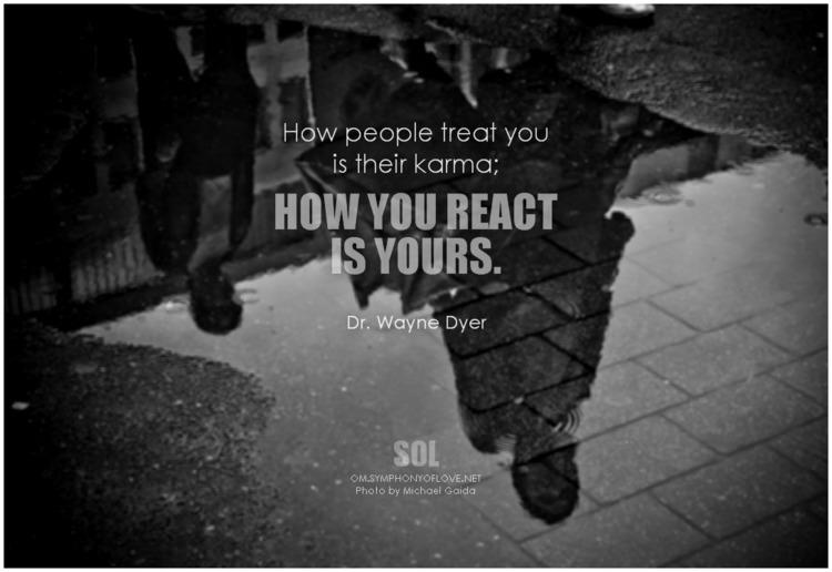 people treat karma; react quote - symphonyoflove | ello