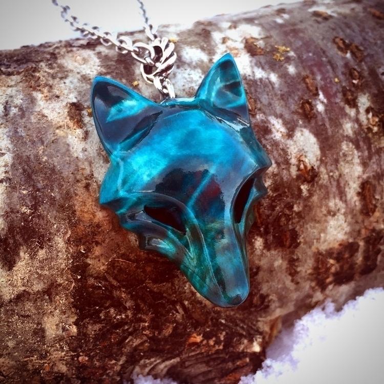 Wooden wolf pendant handmade No - jonasolsenwoodcraft | ello