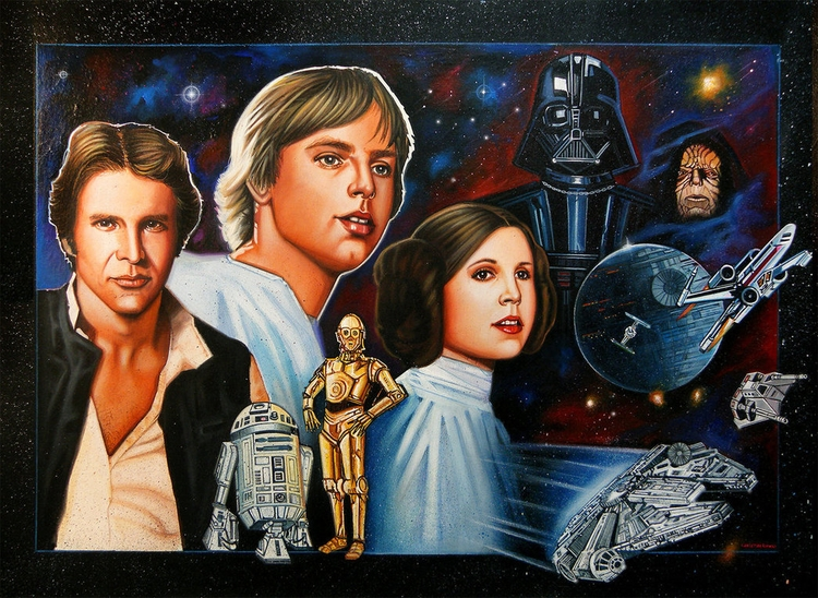 Star Wars Acrylic, Colored Penc - christianromani | ello