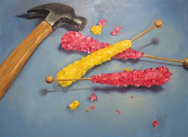 Candy Crush. Oil canvas, 30x40 - jordanillustrates | ello