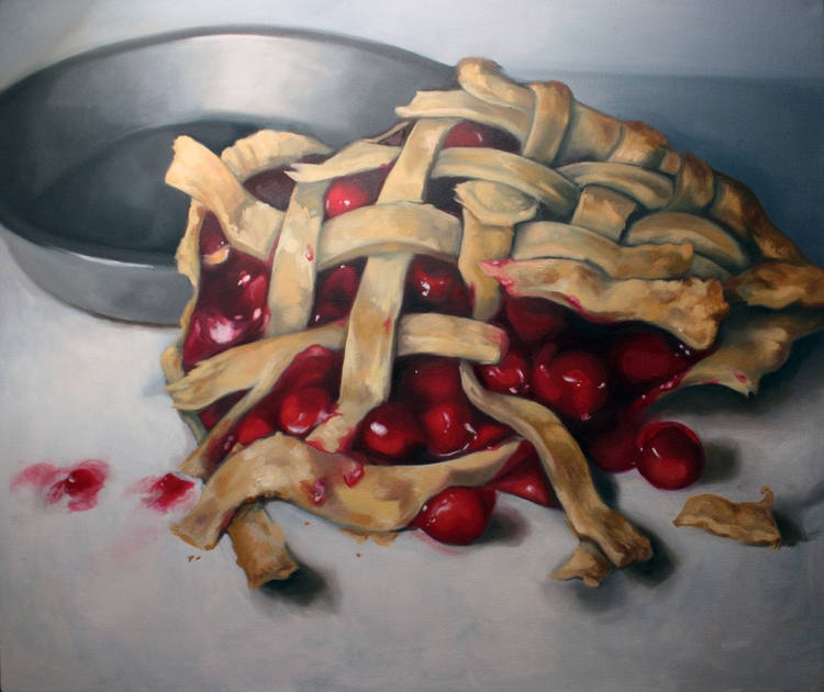 Cherry Pie oil canvas, 38x48. 2 - jordanillustrates | ello
