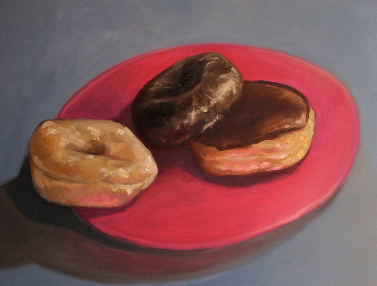 Donuts oil canvas, 18x24. 2011 - jordanillustrates | ello