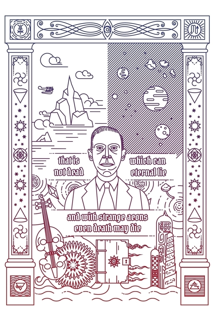 Love craft - lovecraft, illustration - juliusllopis | ello