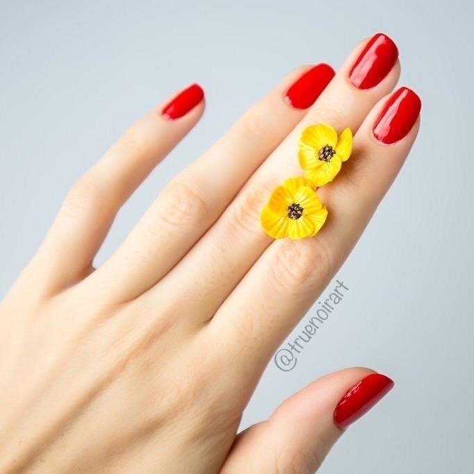 Shimmering yellow poppy stud ea - truenoir | ello